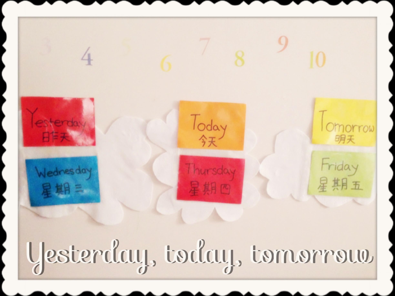 Diy Calendar Singapore : Diy wall calendar yesterday today tomorrow