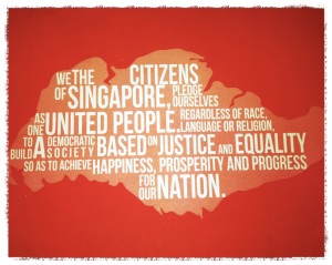 Celebrating National Day - Singapore Flag, National Anthem and Pledge