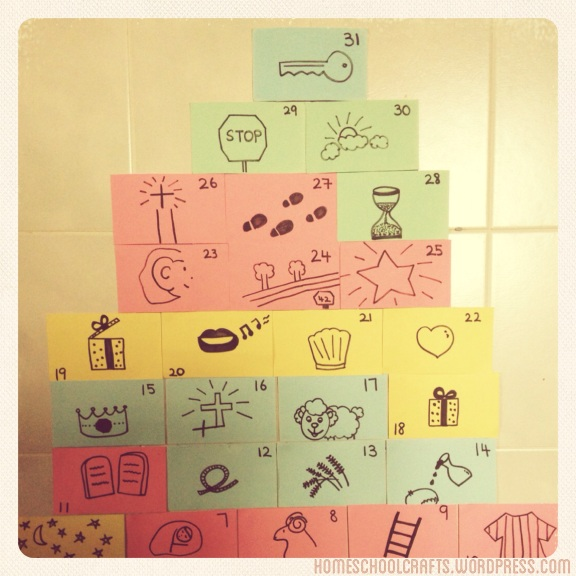 DIY Jesse Tree for preschoolers.