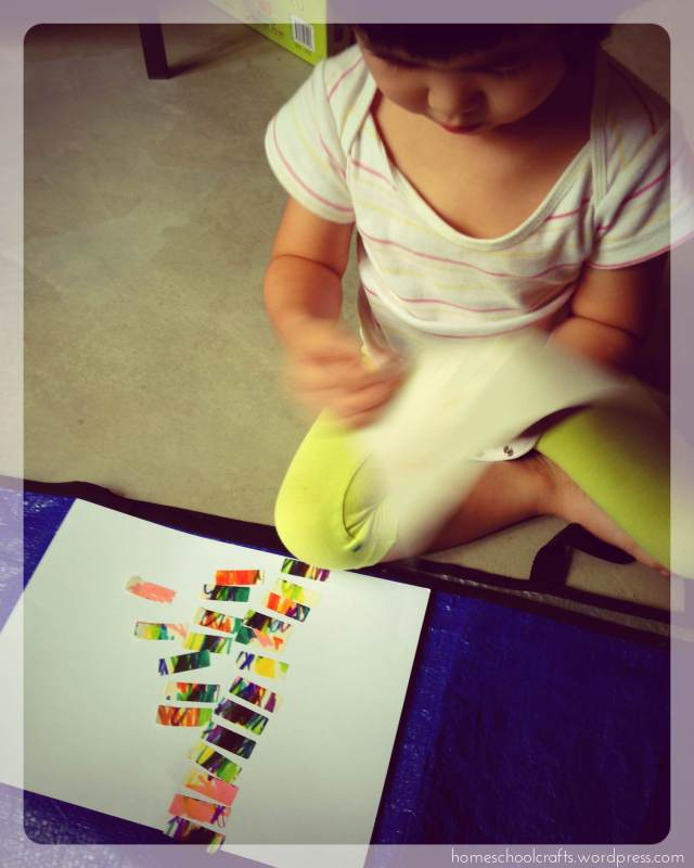 Preschool art: fun with sticker labels