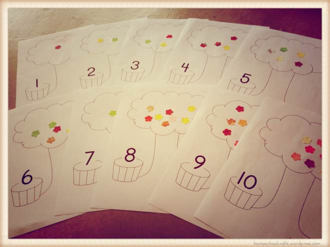 Counting 1-10 activities.
