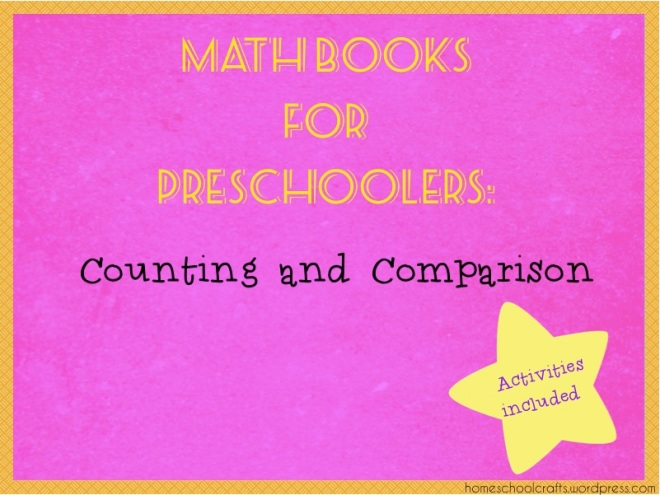 Math books for preschoolers that teaches counting and comparison