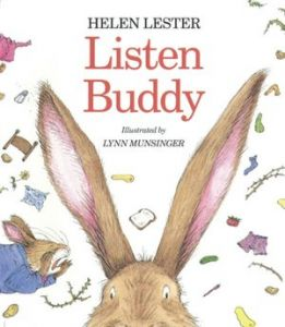 "Cover page of ""Listen Buddy"" by Helen Lester."
