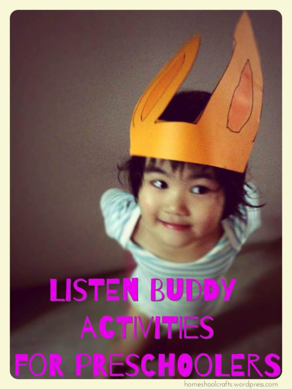 """Preschool activities for """"Listen Buddy"""""""