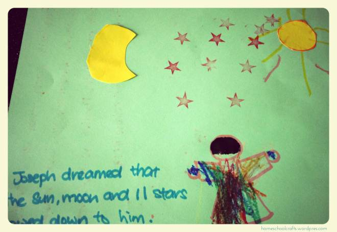 Joseph forgives his brothers: Joseph's dream of sun, moon and stars