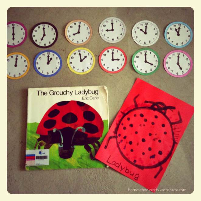 The Grouchy Ladybug Activity - Telling the Time