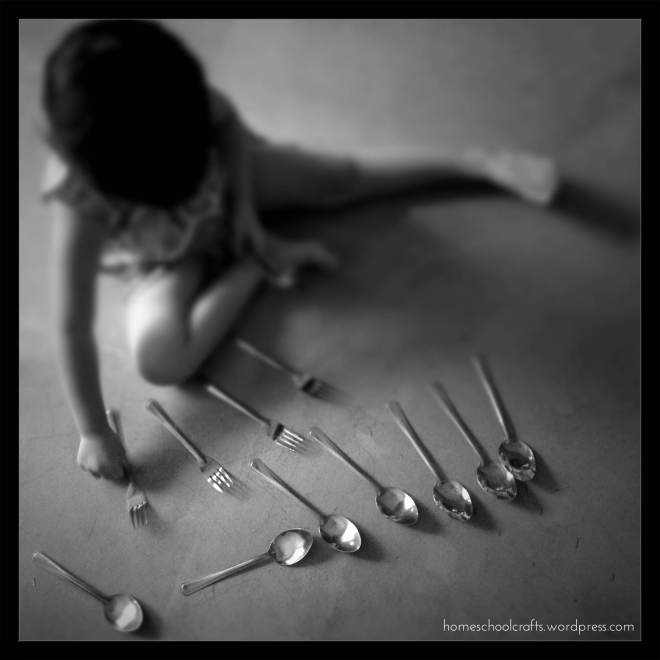 Letter C Week: Counting with Utensils
