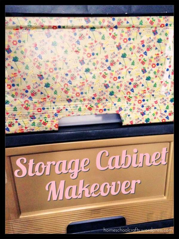 Plastic Storage Cabinet Makeover with Washi Tapes