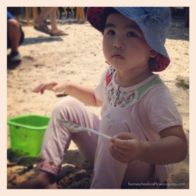 Sand play at Tiong Bahru Park Singapore