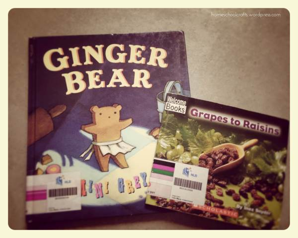 Letter G Week: Gingerbread Bear and Grapes