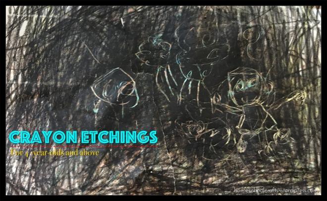 Crayon etchings: indoor art activity for children